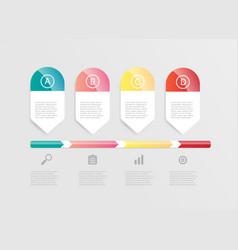 abstract horizontal bar infographic vector image