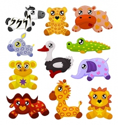 African toy animals vector image