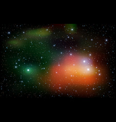colorful universe filled with stars nebula and vector image vector image