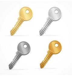 Golden keys set vector