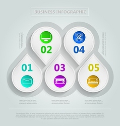 infographic for e-Business vector image vector image