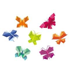 Origami butterflies vector image vector image