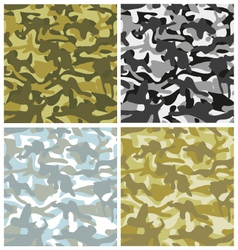 Set of camouflage patterns vector image vector image