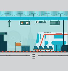 train station platform of subway or sky train vector image
