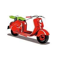 Vintage motor scooter retro vector