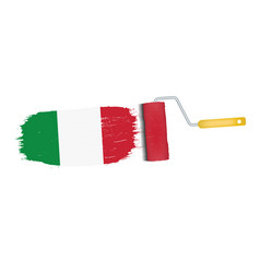 brush stroke with italy national flag isolated on vector image vector image