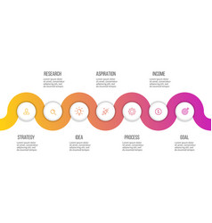 business infographics presentation with 7 options vector image vector image