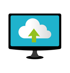 Color lcd monitor with cloud upload service vector