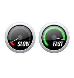 Credit score indicator or fast and slow download vector