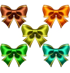 Festive bows with golden edging vector image vector image