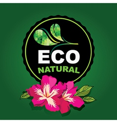 Icon design organic and nature vector image