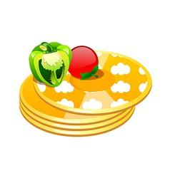 icon pancake vector image