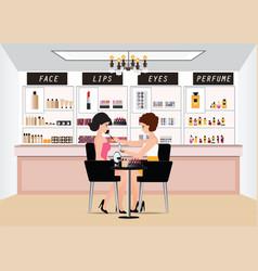 professional makeup artist working with makeup vector image