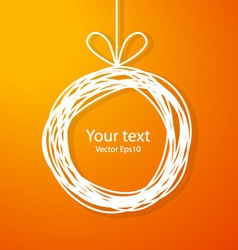Christmas sketch frame on orange background vector image vector image