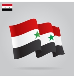 Flat and waving Syrian Flag vector image vector image