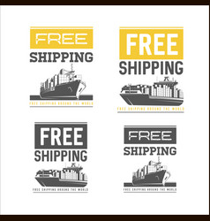 free shipping design template shipping and vector image vector image
