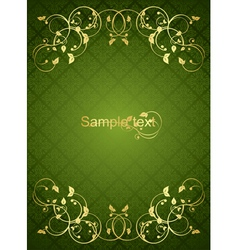 greengold background vector image vector image