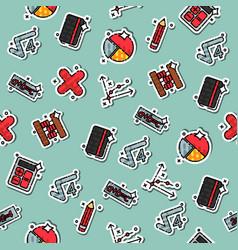 colored algebra pattern vector image