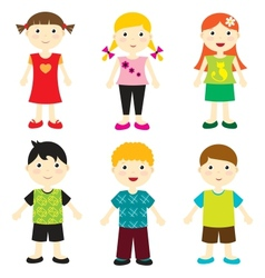 Happy kids vector