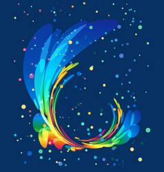 multicolored rounded element on blue background vector image