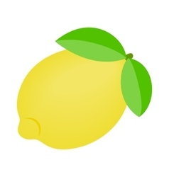 One ripe lemon icon vector image vector image