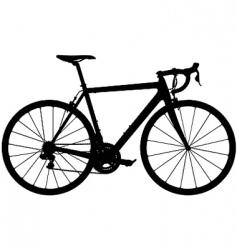 Road racing bike silhouette vector