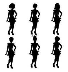 silhouettes of women in different hair vector image vector image