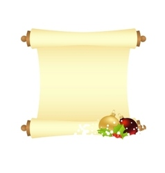 xmas manuscript isolated vector image