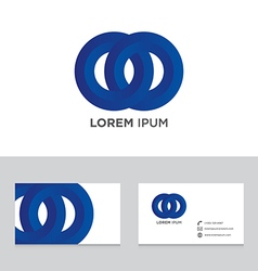 Abstract logo brand icon business card template vector