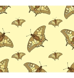abstract seamless background of butterflies vector image