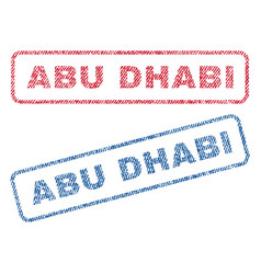 Abu dhabi textile stamps vector