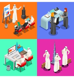 Arabian Business Isometric People vector