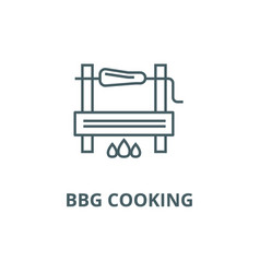 Bbg cooking line icon bbg cooking outline vector