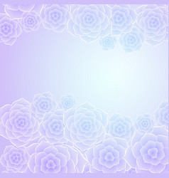beautiful purple blue rose flower background vector image