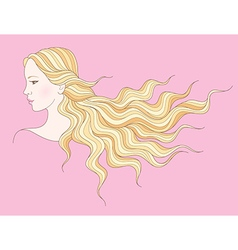 Beauty girl hair vector