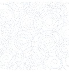 black dotted spirals vector image