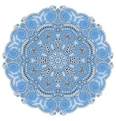 Blue colour circle lace ornament vector