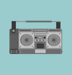 Boombox retro isolated tape recorder vector