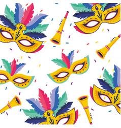 Brazil carnival pattern vector