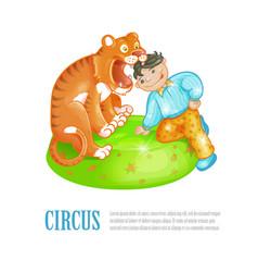 Bright circus performance vector