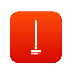 Brush for a floor icon digital red vector