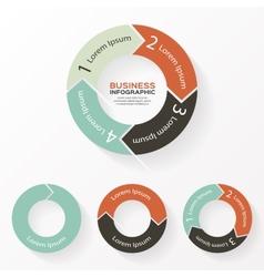 Circle arrows infographic diagram parts vector image