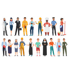 collection men and women people workers of vector image