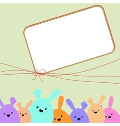 Colorful easter card with copy space EPS 8 vector image