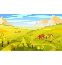 Colorful Summer Landscape Template vector image