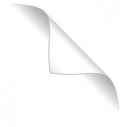 Curled corner vector
