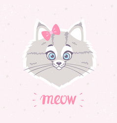 cute kitty vector image