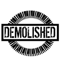 Demolished stamp on white vector
