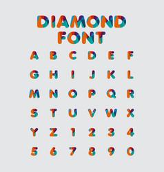 Diamond font template design vector