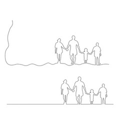 Family holding hands together black vector